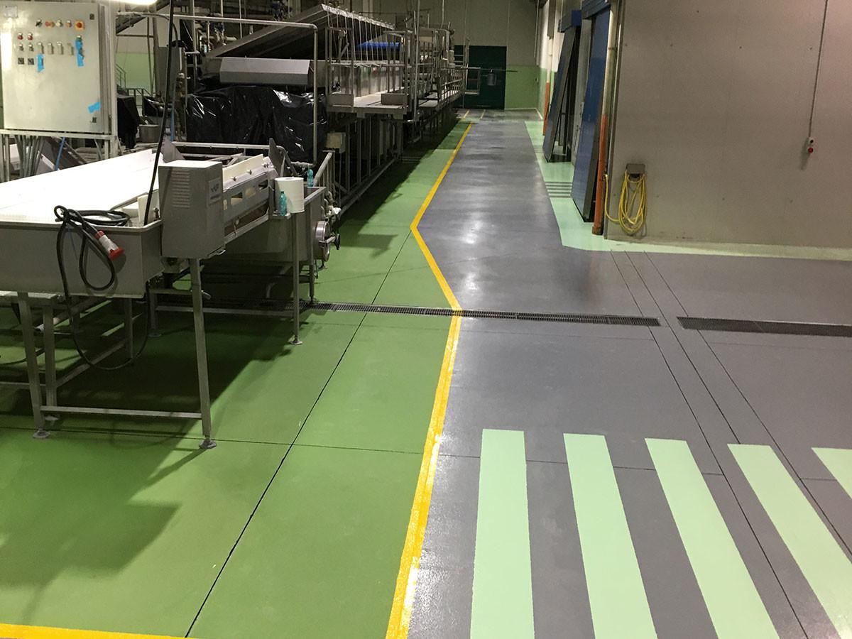 pavimenti per industrie alimentari